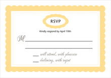 custom response cards - sunburst - bella (set of 10)