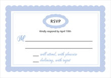 custom response cards - periwinkle - bella (set of 10)