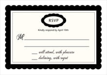 custom response cards - tuxedo - bella (set of 10)