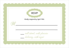 custom response cards - green tea - bella (set of 10)