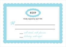 custom response cards - bahama blue - bella (set of 10)