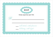 custom response cards - aruba - bella (set of 10)