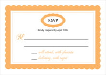 custom response cards - tangerine - bella (set of 10)
