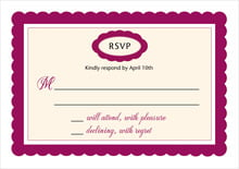 custom response cards - burgundy - bella (set of 10)