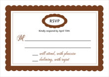 custom response cards - chocolate - bella (set of 10)