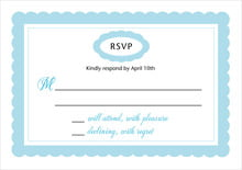 custom response cards - sky - bella (set of 10)