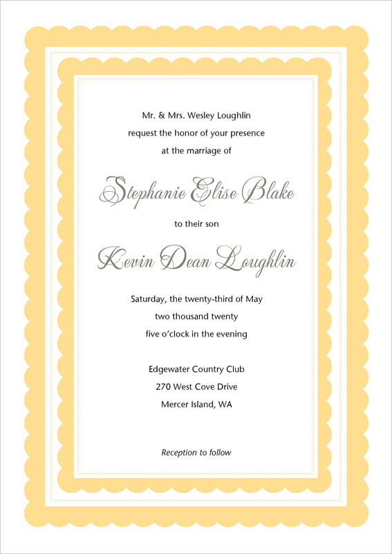 custom invitations - sunburst - bella (set of 10)