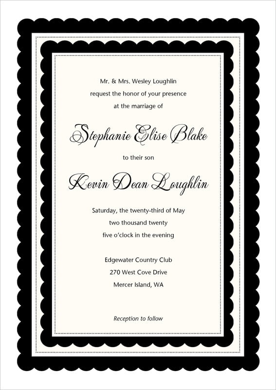 custom invitations - tuxedo - bella (set of 10)