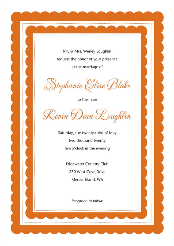custom invitations - spice - bella (set of 10)
