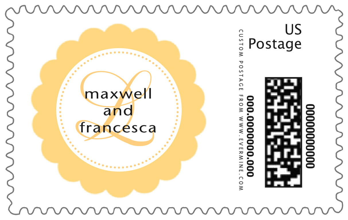 custom large postage stamps - sunburst - bella (set of 20)