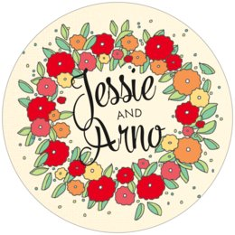 Summer Poppy round coasters