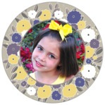Summer Poppy circle photo labels