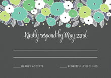 custom response cards - pale green & turquiose - summer poppy (set of 10)