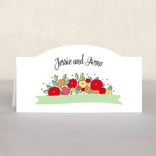 Summer Poppy place cards