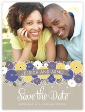 Summer Poppy save the date cards