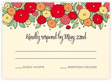 Summer Poppy response cards
