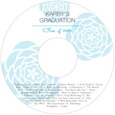 Bouquet graduation CD/DVD labels