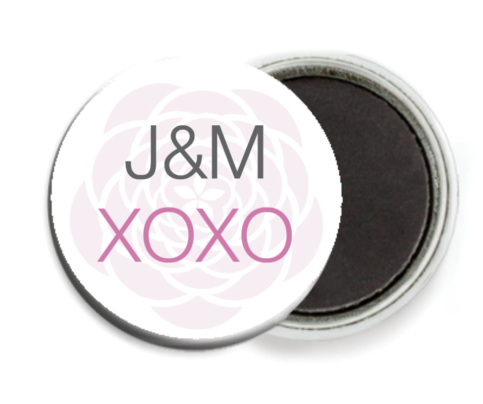 custom button magnets - radiant orchid - bouquet (set of 6)
