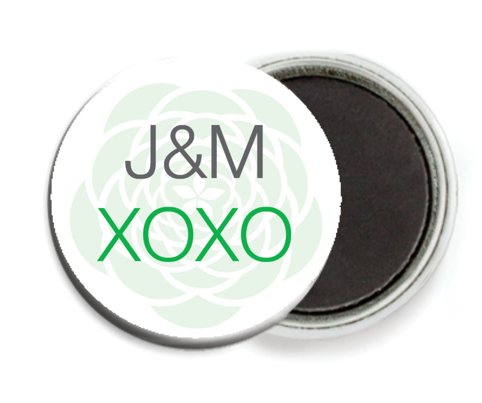 custom button magnets - grass - bouquet (set of 6)