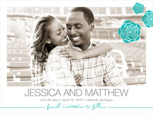 custom save-the-date cards - turquoise - bouquet (set of 10)