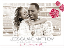 custom save-the-date cards - deep red - bouquet (set of 10)