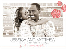 custom save-the-date cards - deep coral - bouquet (set of 10)