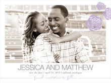 custom save-the-date cards - lilac - bouquet (set of 10)