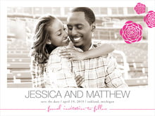 custom save-the-date cards - bright pink - bouquet (set of 10)