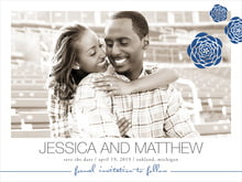 custom save-the-date cards - deep blue - bouquet (set of 10)