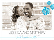 custom save-the-date cards - sky - bouquet (set of 10)