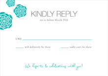 custom response cards - turquoise - bouquet (set of 10)