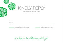 custom response cards - grass - bouquet (set of 10)