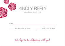 custom response cards - deep red - bouquet (set of 10)