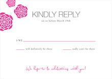custom response cards - bright pink - bouquet (set of 10)