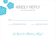 custom response cards - sky - bouquet (set of 10)