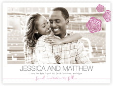 Bouquet save the date cards