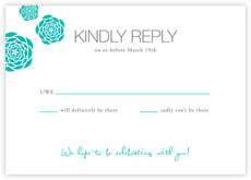 Bouquet response cards