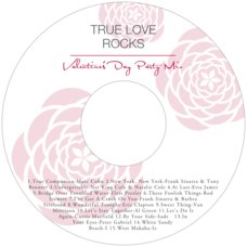 Bouquet valentine's day CD/DVD labels