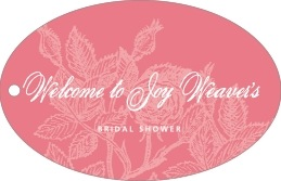 Briar Rose wide oval hang tags