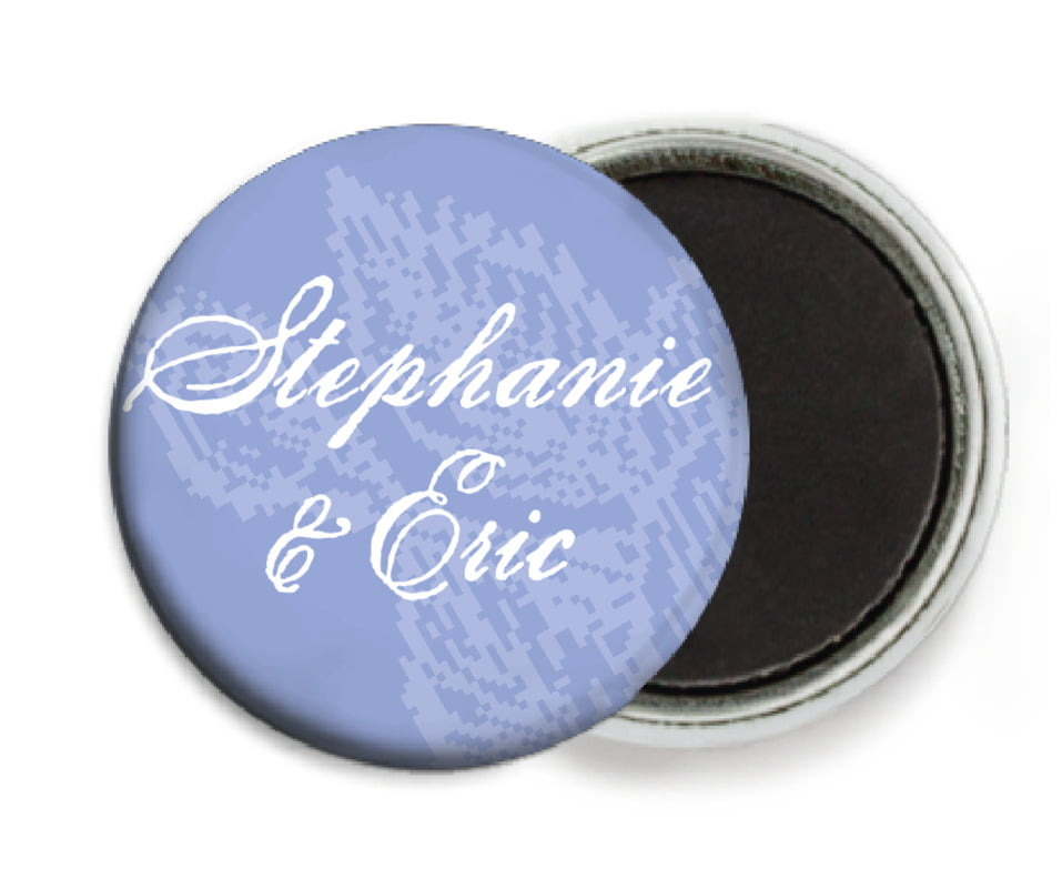 custom button magnets - periwinkle - briar rose (set of 6)