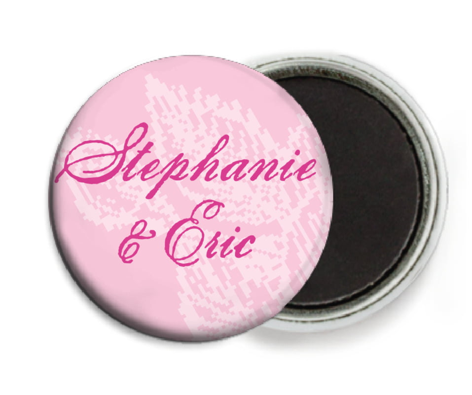 custom button magnets - pale pink - briar rose (set of 6)