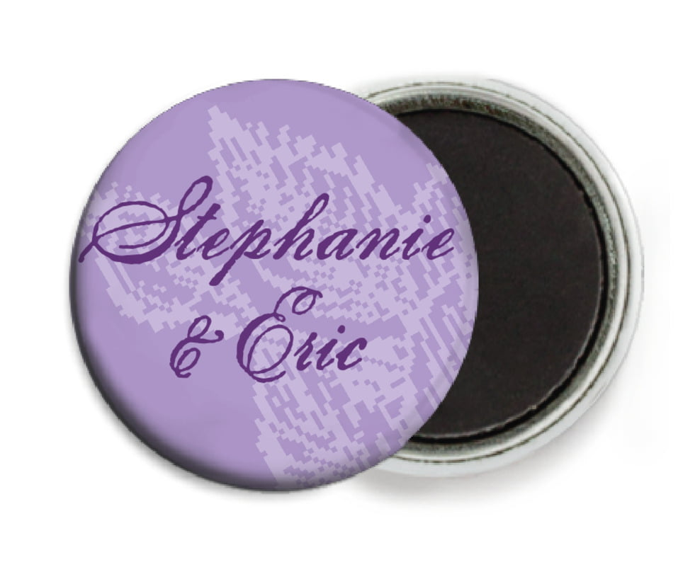 custom button magnets - lilac - briar rose (set of 6)