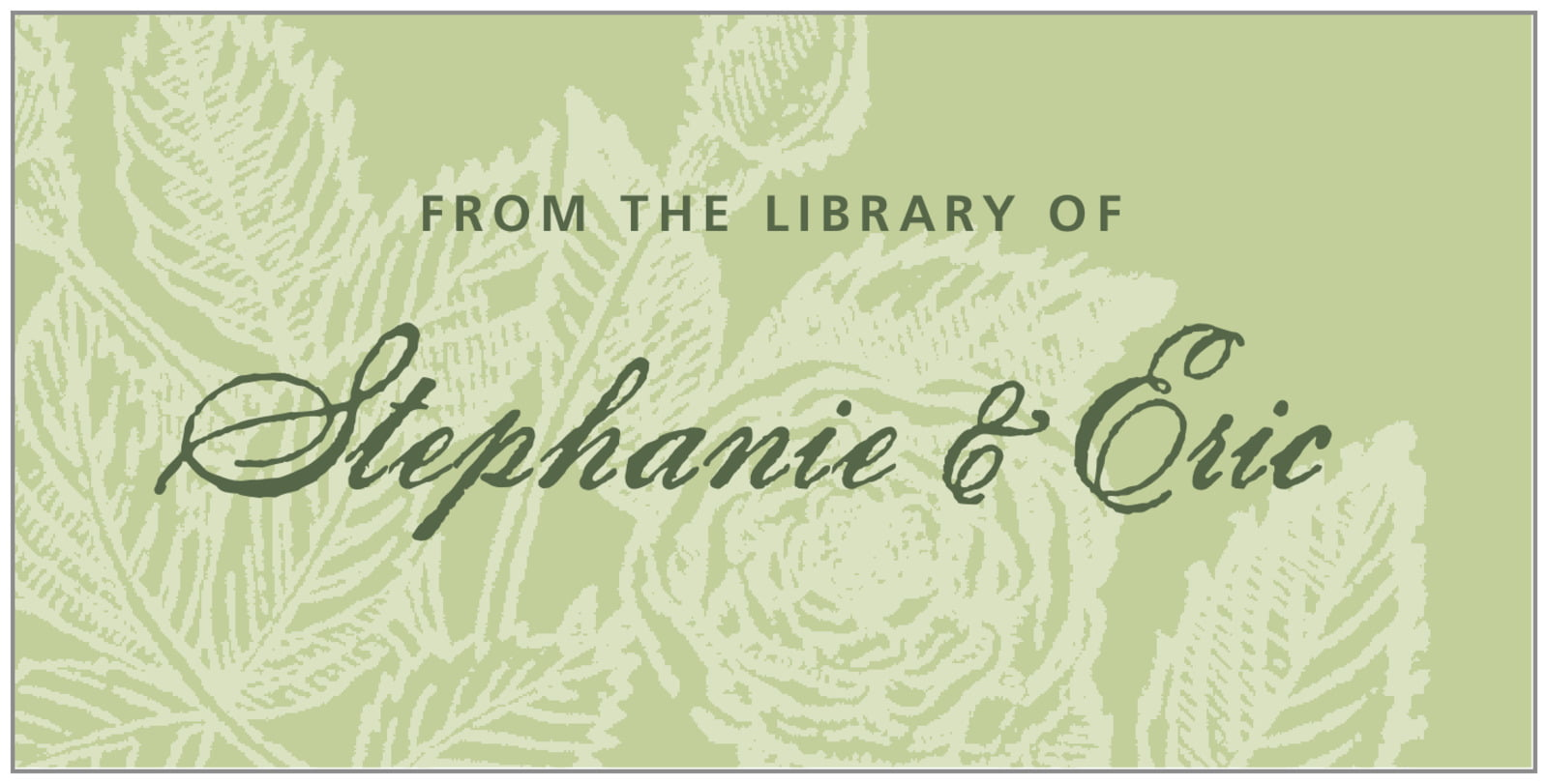 bookplates for everyone - green tea - briar rose (set of 24)