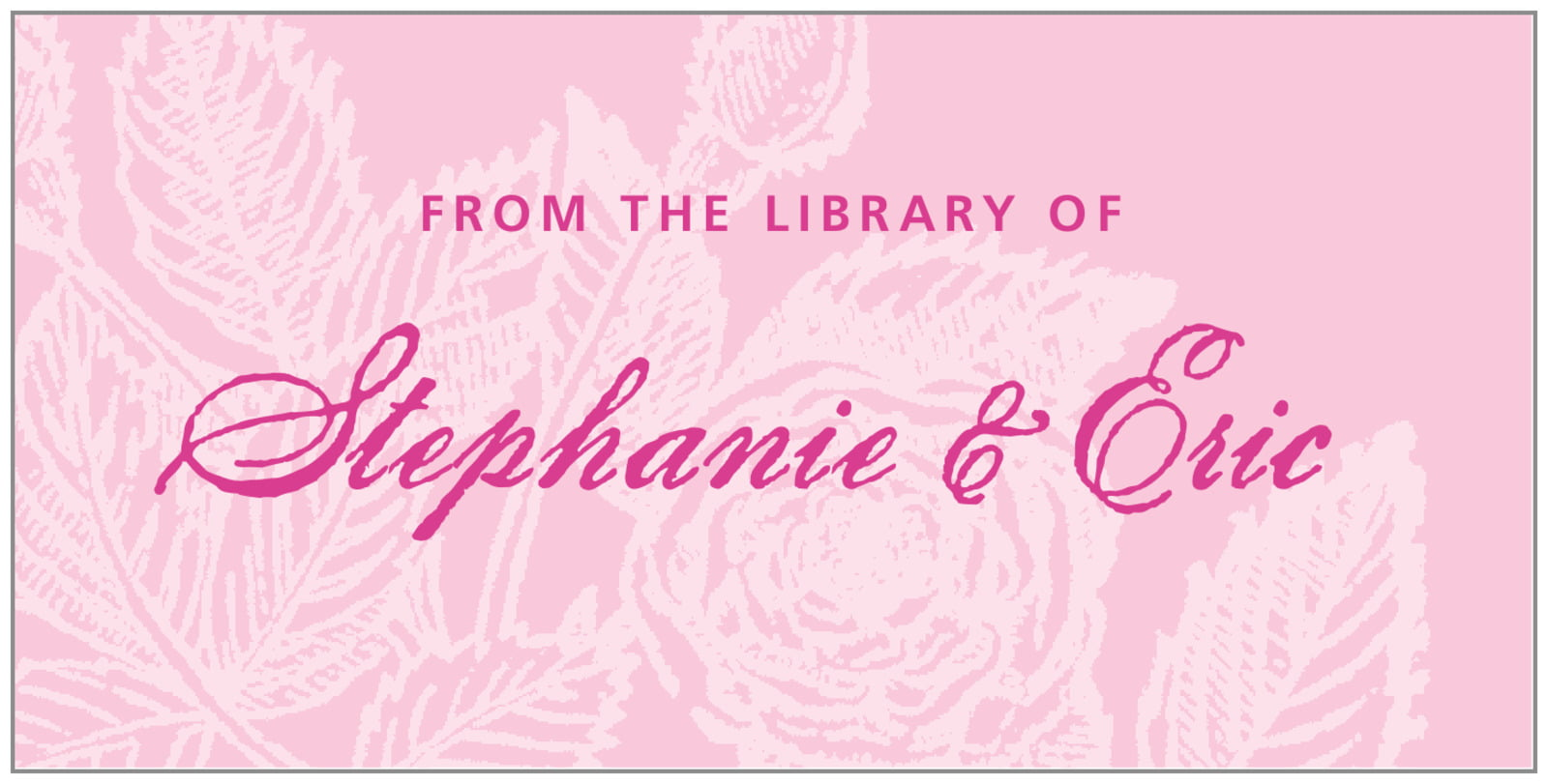 bookplates for everyone - pale pink - briar rose (set of 24)