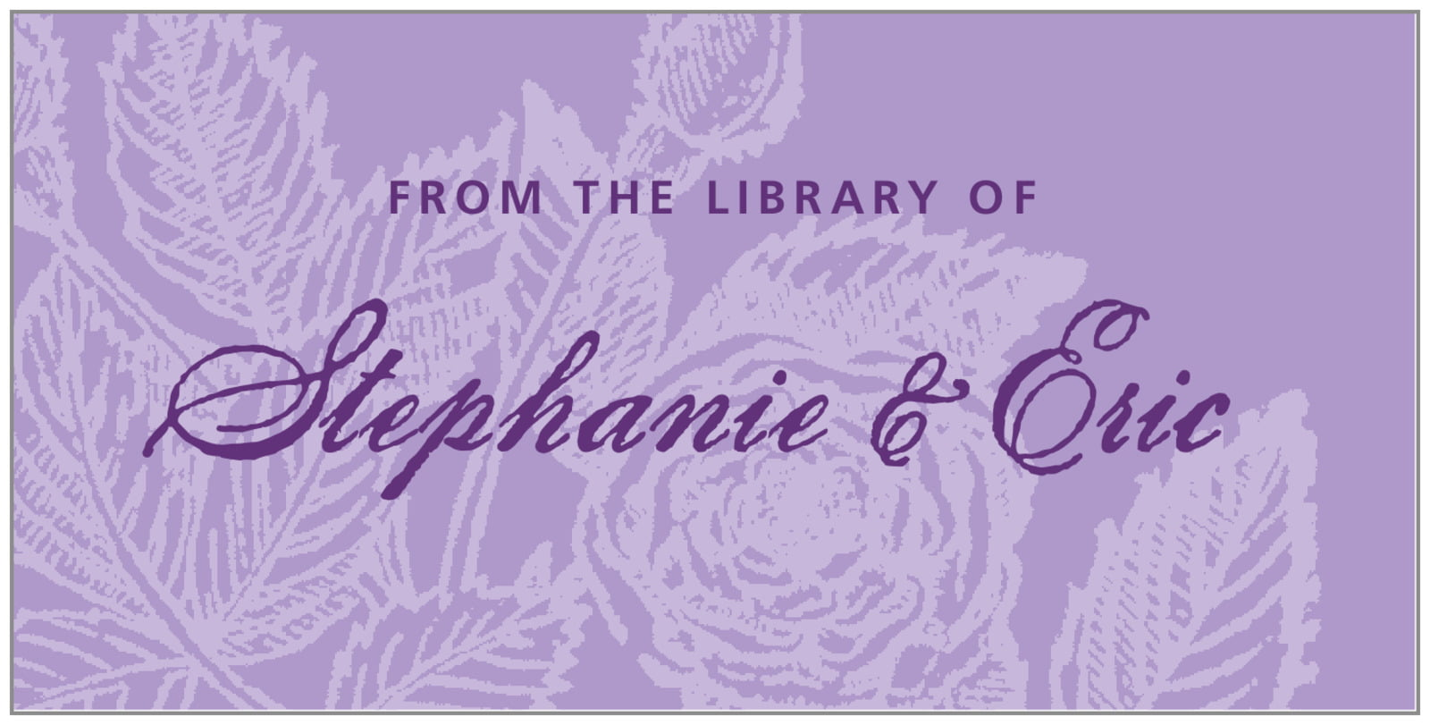 bookplates for everyone - lilac - briar rose (set of 24)