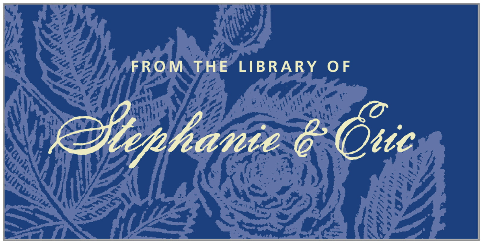 bookplates for everyone - deep blue - briar rose (set of 24)