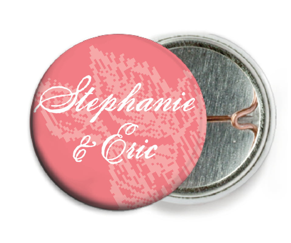 custom pin back buttons - grapefruit - briar rose (set of 6)
