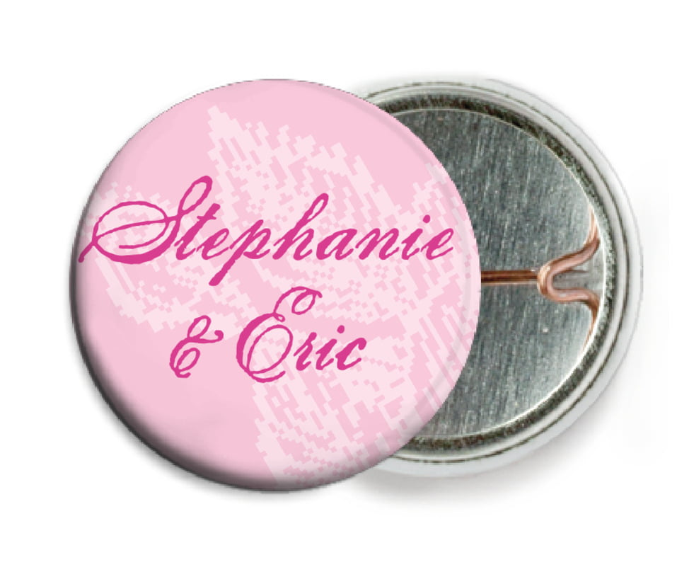 custom pin back buttons - pale pink - briar rose (set of 6)