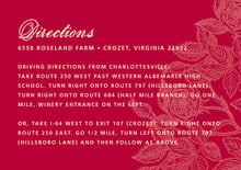 custom enclosure cards - deep red - briar rose (set of 10)