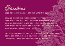 custom enclosure cards - burgundy - briar rose (set of 10)